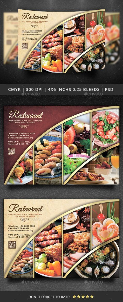 Restaurant Flyer Template  Photoshop Psd Fast Food Lunch Flyer