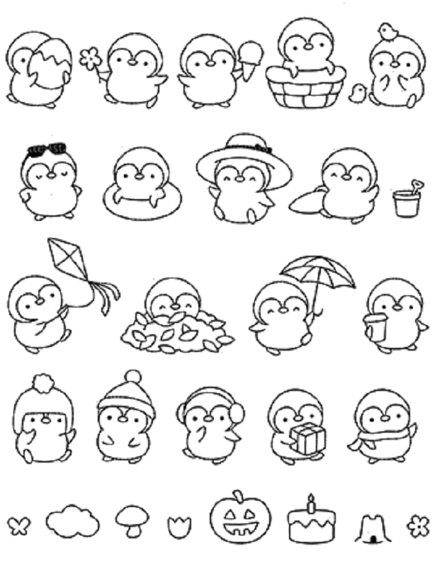 2.69US $ 10% OFF Penguin Halloween Clear Stamps  Scrapbook Paper Craft Clear stamp scrapbooking A0180 Stamps    - AliExpress
