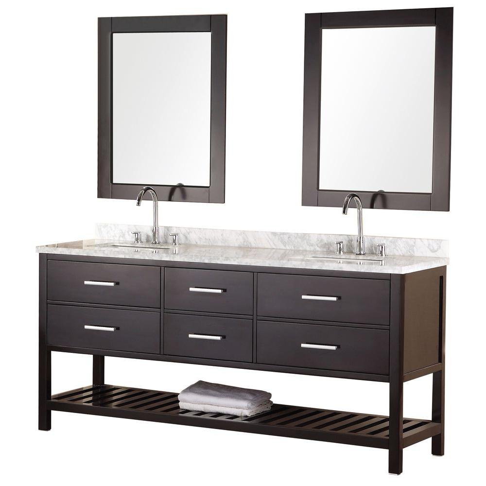 Design Element Mission 72 In W X 22 In D Vanity In Espresso With