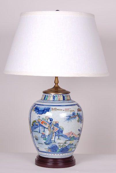 Kangxi Vase Lamp Description: Kangxi Vase Lamp With Ladies Item Size:  Price: Login To See The Price Quantity: