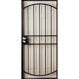 Gatehouse Gibraltar Black Steel Security Door Common 36 In X 81 Actual 39 82