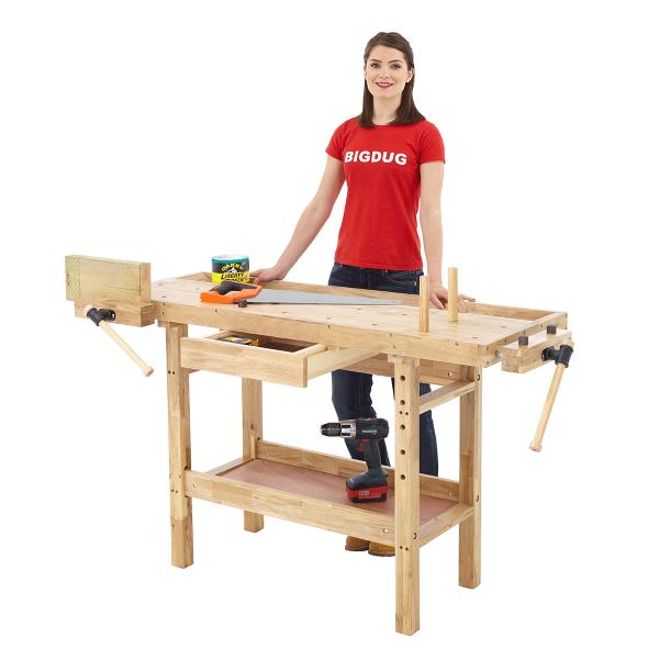 Wooden Workbench Value Workbench From Bigdug Uk Workbench With Drawers Workshop Bench Workbench