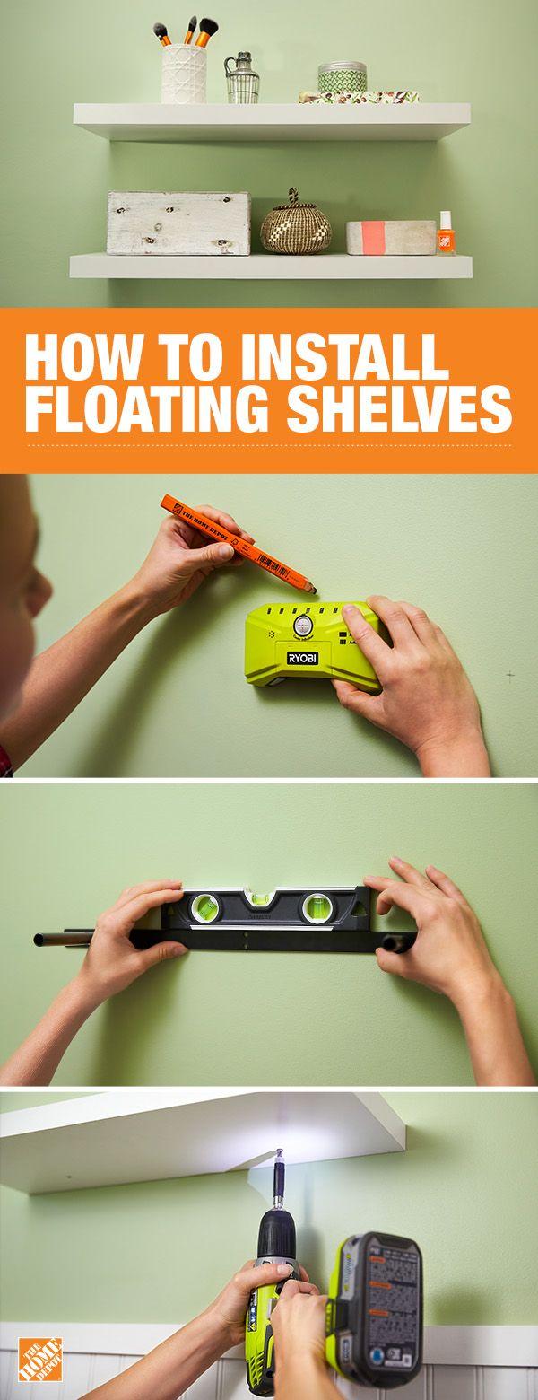 How To Install Floating Shelves Diy Diy Home