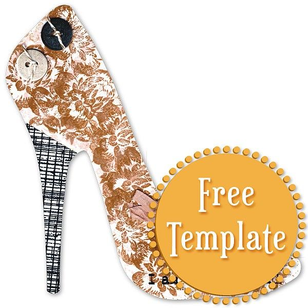 Stiletto template templates tuts for crafting for High heel template for cards