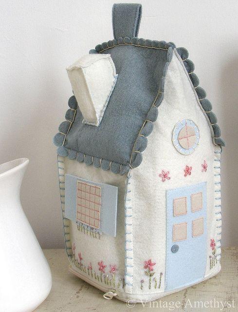 Petitevanou & petitevanou   Pinterest   House doors Felt house and Felting