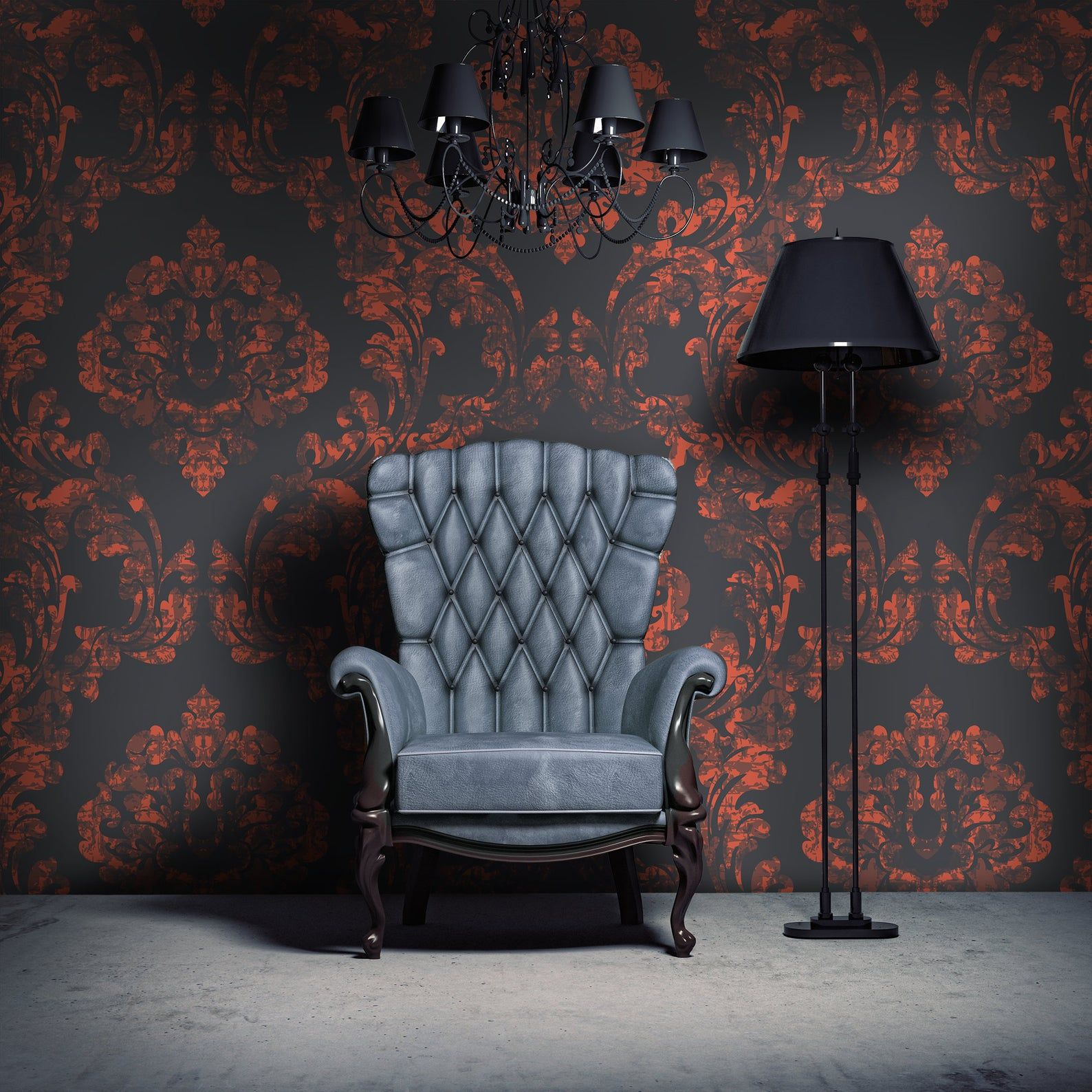 Dark Gothic Damask Mural Vintage Victorian Wallpaper Retro Self Adhesive Decor Floral Peel And Stick Paper Victorian Wallpaper Background Wallpaper For Photoshop Gothic Wallpaper