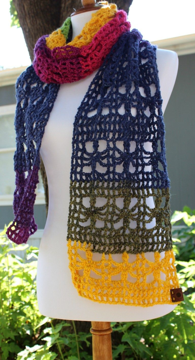 The Webster Mandala Scarf FREE Crochet Pattern U.K. Terms
