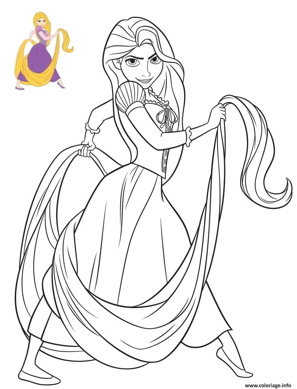 Coloriage Princesse Disney Raiponce  Bilder zum ausmalen