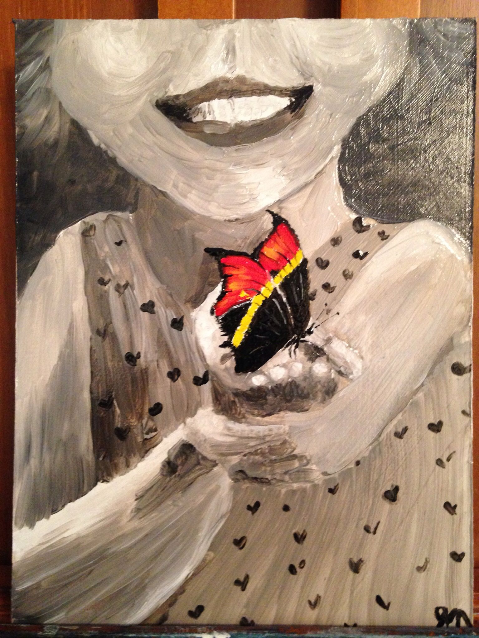 Little girl butterfly size 4 1/2x6""