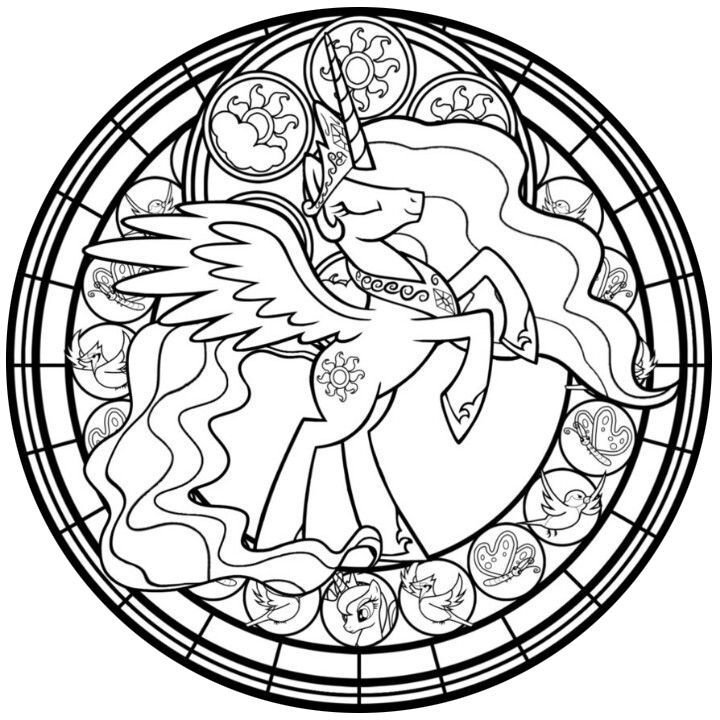 Stained Glass Celestia Take Line Art By Akili Amethyst More Ponies Available