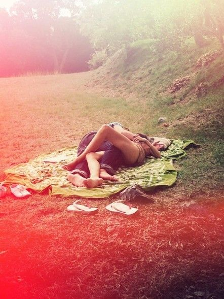 for the perfect picnic...bring a blanket, wine and plastic glasses, food and clothing optional