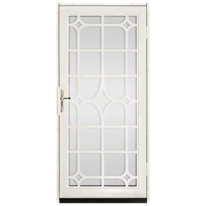 Unique Home Designs 36 In X 80 In Lexington Almond Surface Mount Steel Security Door With Shatter Resistant Glass And Nickel Hardware Idr30000362129 Steel Security Doors Unique House Design Security Door
