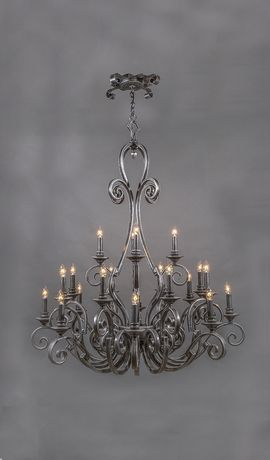 Cordoba vintage wrought iron chandelier 20 light metal cordoba vintage wrought iron chandelier 20 light aloadofball Image collections