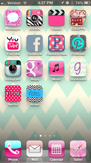 Cute iphone icons! Easy tutorial on how to add different style/colors to your iPhone OR iPad!