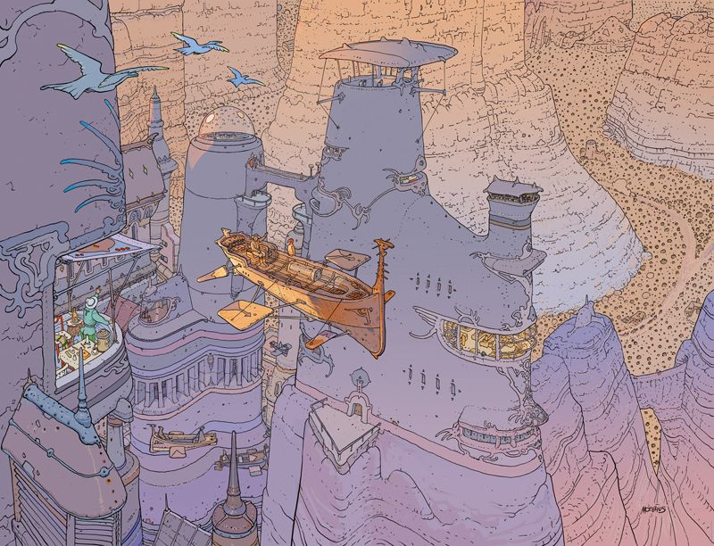 Jean Giraud, aka Moebius, was a comic book artist who combined blinding speed with boundless imagination. He shaped the look of Alien, Empire Strikes Back and The Fifth Element. He reimagined the Silver Surfer for Stan Lee.