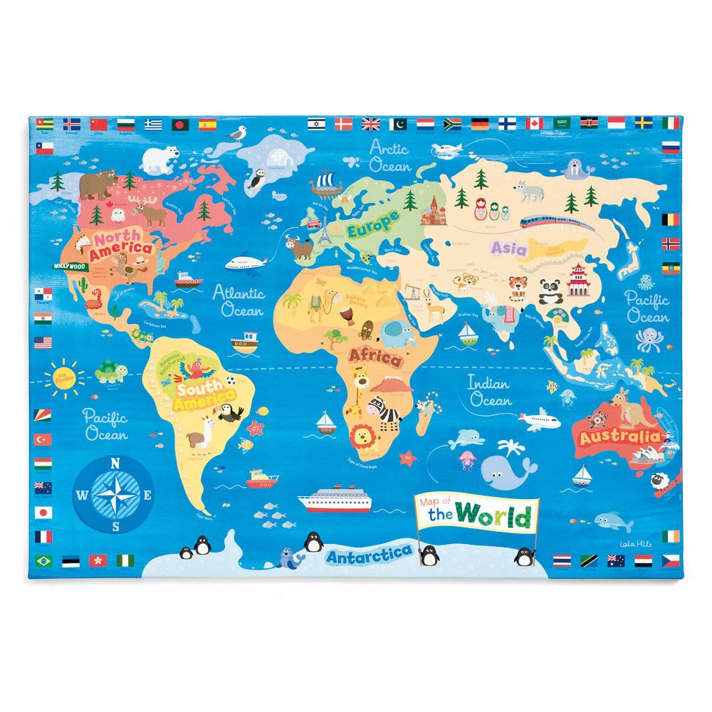 World map wall canvas all sale sale gltc the big girl world map wall canvas all sale sale gltc gumiabroncs Choice Image