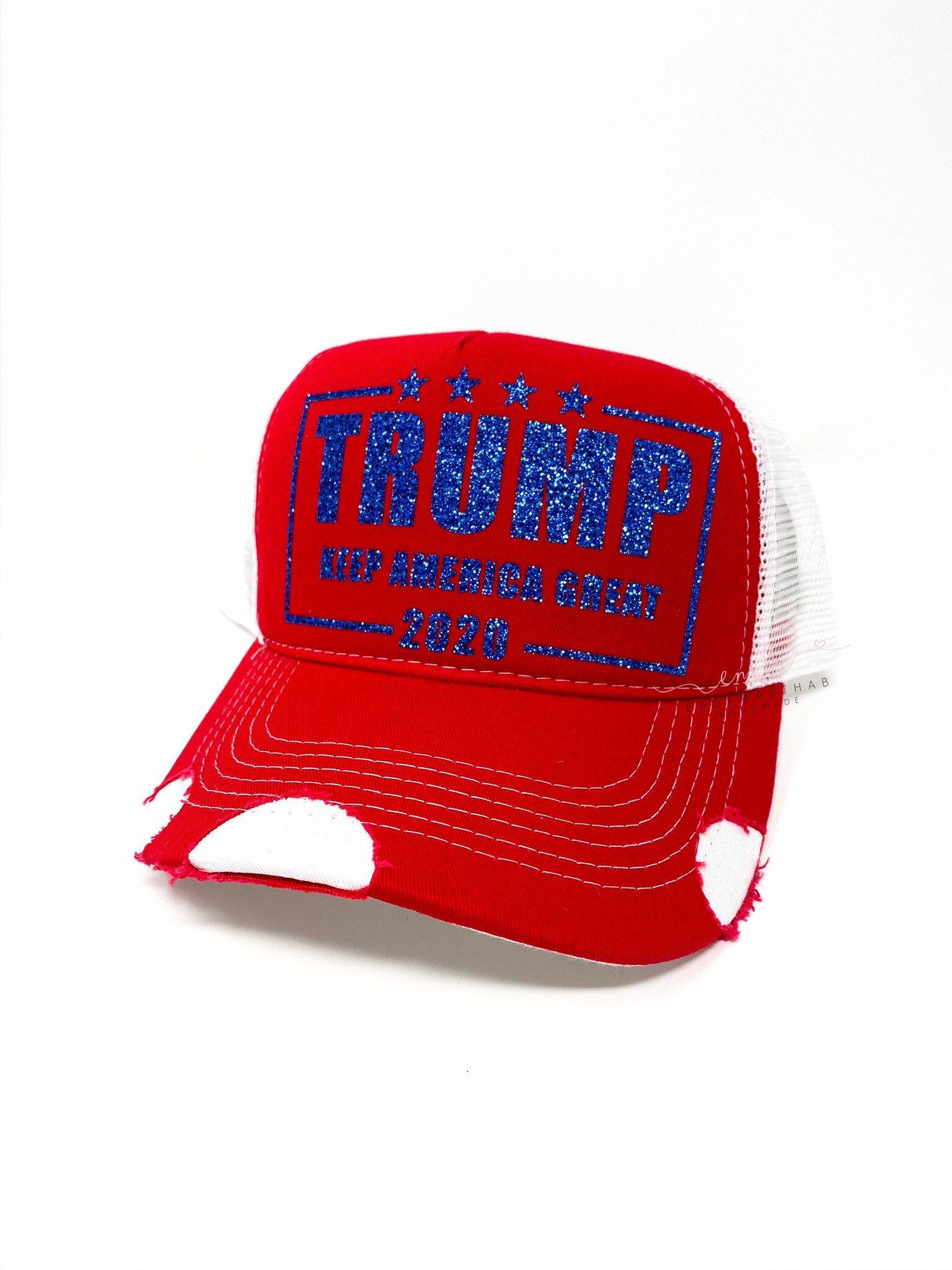 Trump 2020 Trucker Hat Glitter Trump Hat Maga 2020 Keep Etsy In 2020 Trucker Hat Trump Hat Trucker