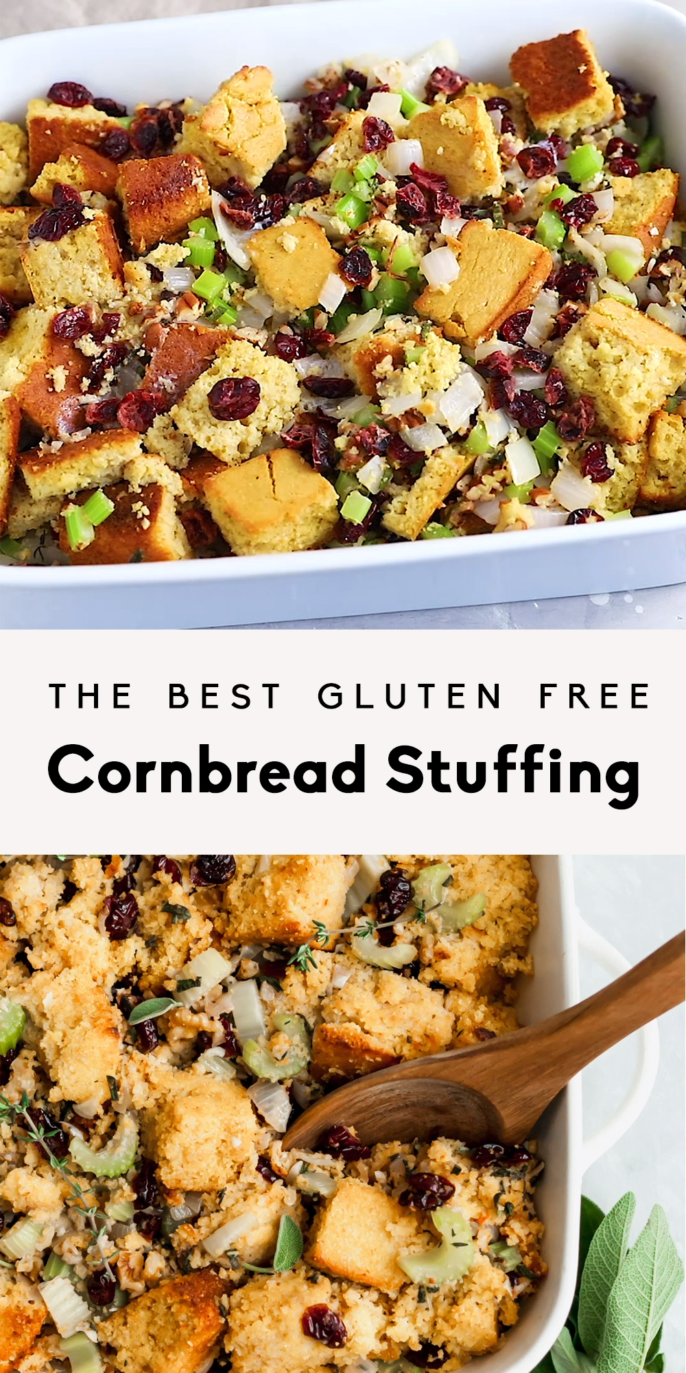 The Best Cornbread Stuffing Ever (gluten free!)