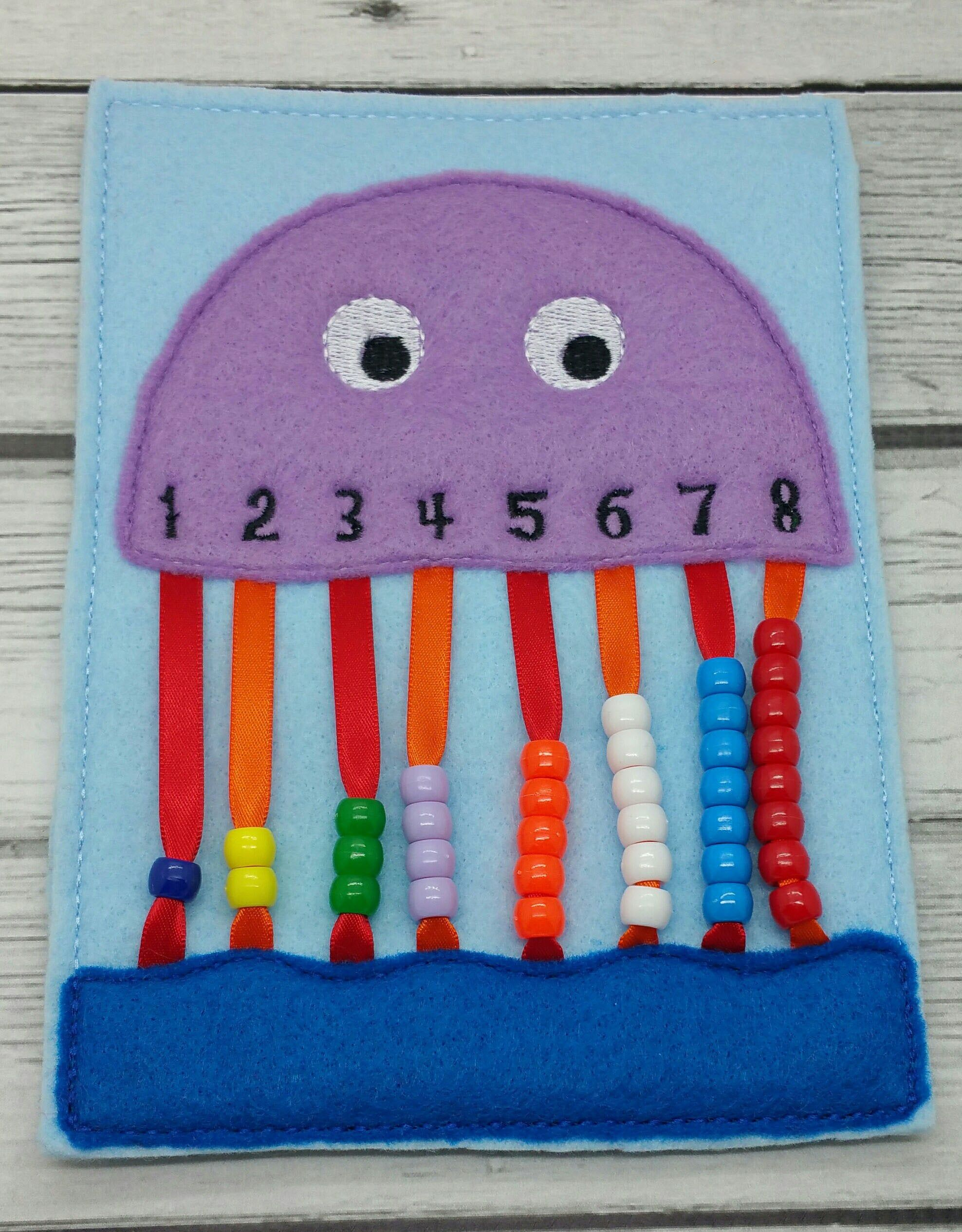 Jellyfish Counting Game Kids Games Busy Bags