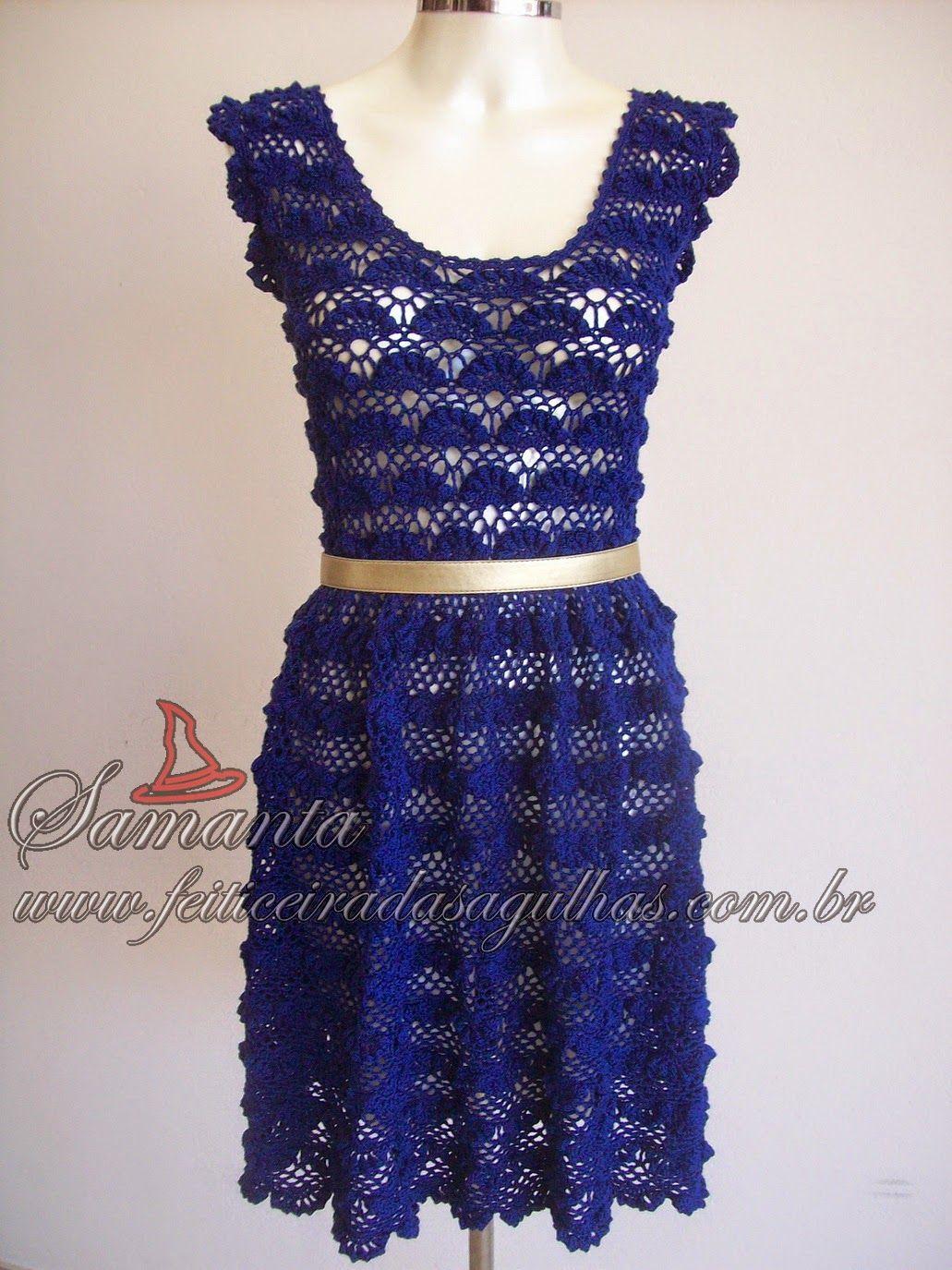 Feiticeira das Agulhas: Vestido York | crochet blouses/ dresses ...