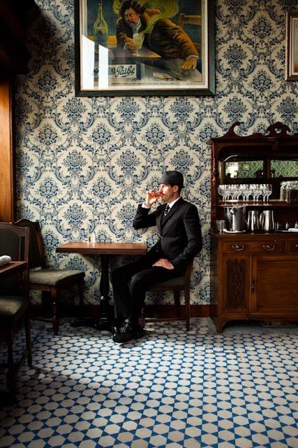Comstock Saloon / 155 Columbus Ave SF / photo Kunkel / www.comstocksaloon.com/ #wallpaper #tile
