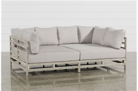 Outdoor Pompeii Daybed - Main | Outdoor, Daybed, Furniture on Living Spaces Outdoor Daybed id=14812