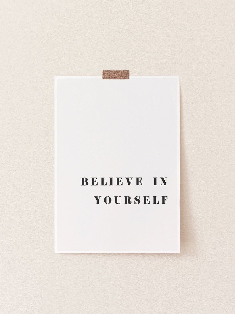 Believe in Yourself Print, Quote Prints, Quote Wall Art, Prints, Inspirational Art Print, Inspirational Quote, Prints Wall Art, Quote Poster