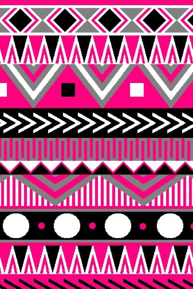 Aztec (pink)   Cute wallpapers (CocoPPa) in 2019 ...