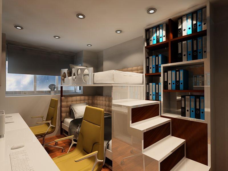Small Bedroom Interior Design For A Singapore Condominium By Posh Urban Pte Ltd