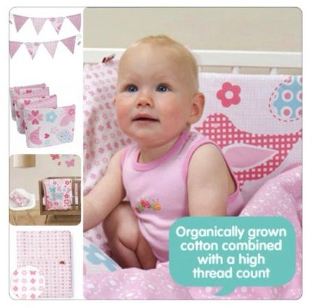 Organic Baby™ is a luxurious collection of infant bedding by Little Chipipi.  A contemporary combination of dusty pink hues capture the sweetness of the Tweet Hearts bedding range.