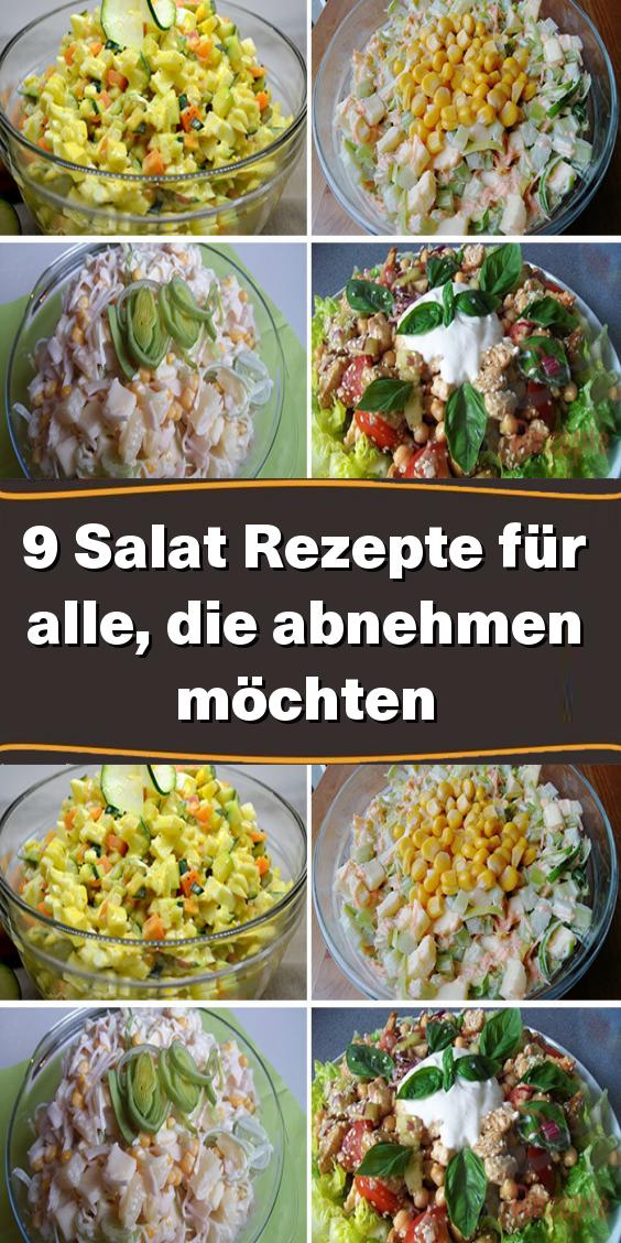 9 Salat-Rezepte für alle, die abnehmen möchten