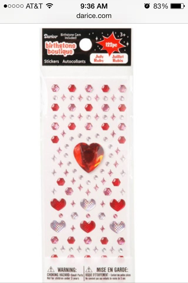 Great for cards or scrapbooks pc heart gem stickers red pink s day scrapbooks