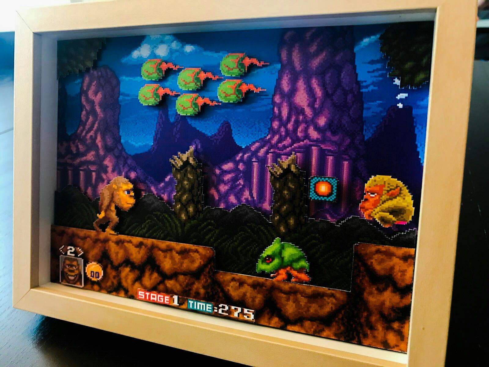 Toki Juju Densetsu Arcade Diorama Retro Rat Gaming Diorama