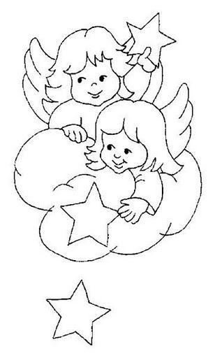 200 Figuras Imagens Moldes E Desenhos De Anjos Colorir Pintar