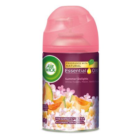 Air Wick Life Scents Freshmatic Refill Automatic Spray Summer Delights 6 17oz Air Freshener Clear Air Freshener
