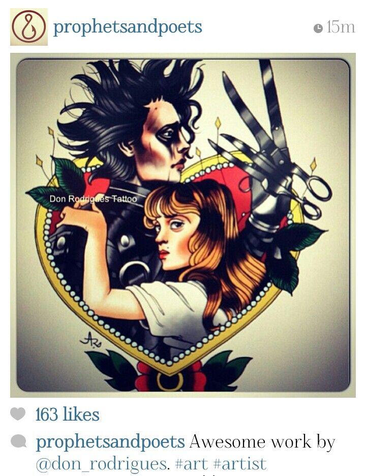 Edward Scissorhands   Art   Pinterest   Tatuajes, Tatuaje de ...