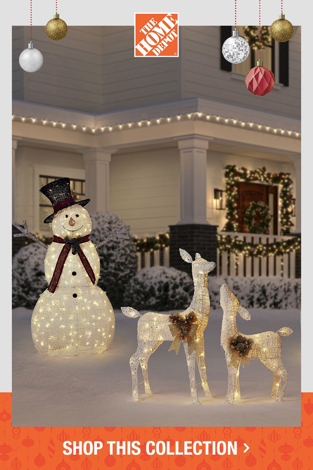 Complete Your Holiday Look With Decor From The Home Depot In 2020 Home Depot Christmas Decorations Christmas Decorations Rustic Christmas Tree Inspiration