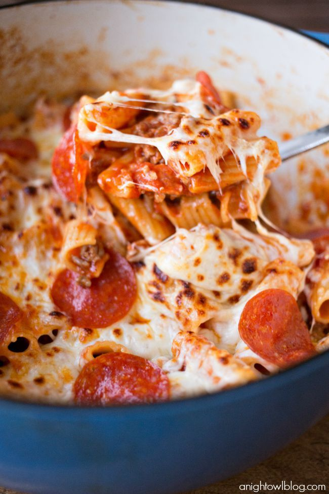 This One Pot Pizza Rigatoni is a breeze to make and a delicious family favorite!