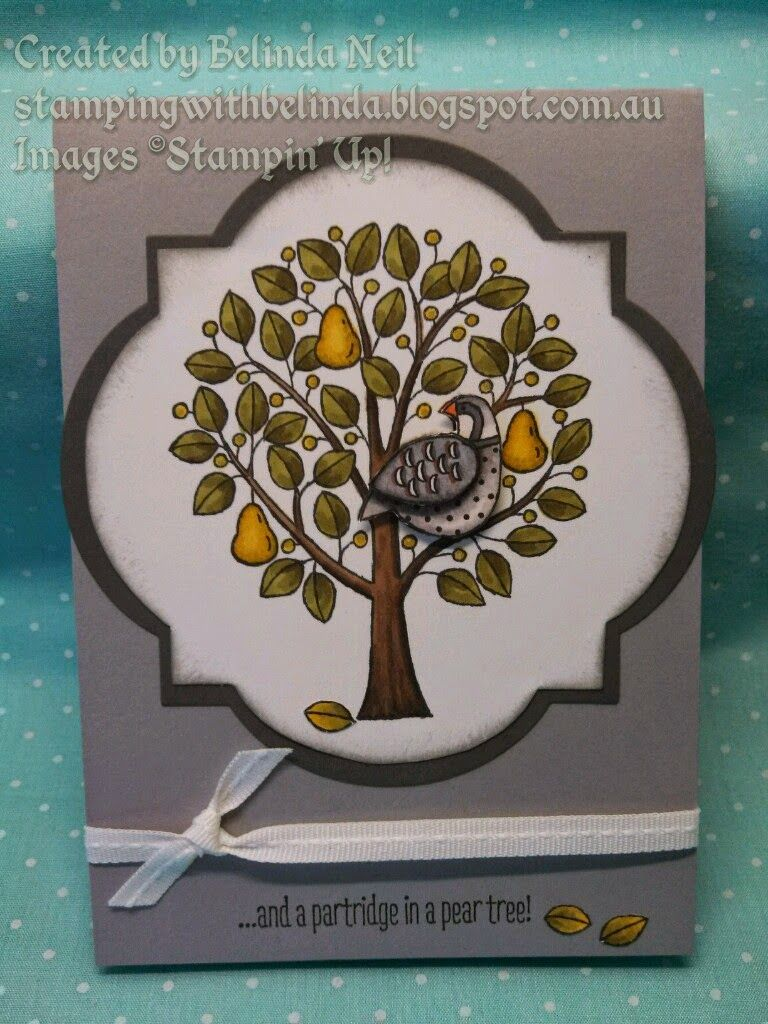 Stampin it up with belinda blendabilities d a partridge in a christmas cards kristyandbryce Gallery