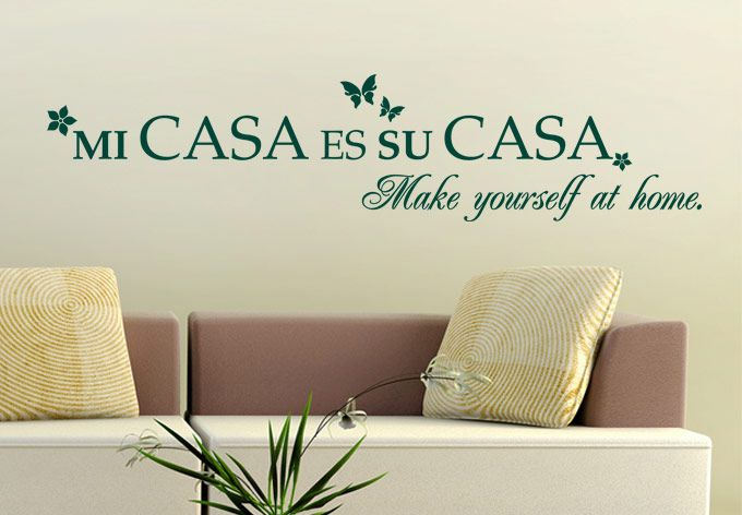 Wall Decals   Mi Casa Es Su Casa Wall Decal Quote   Spanish Saying Vinyl  Decor