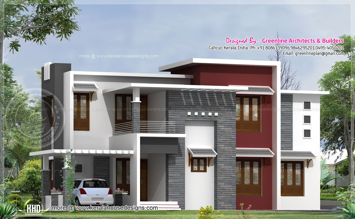 2540 square feet contemporary house design model houses Modern square house