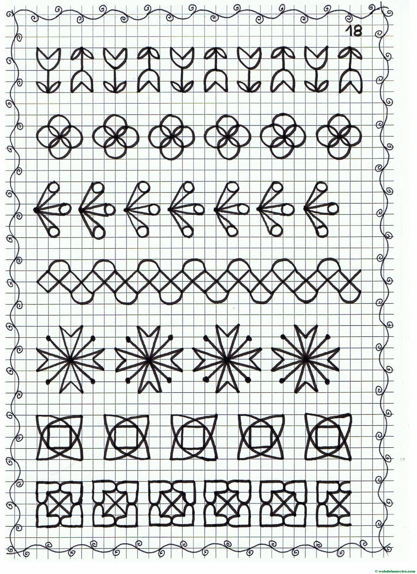Cenefas dibujos en cuadr cula para imprimir - Cenefas para ninos ...