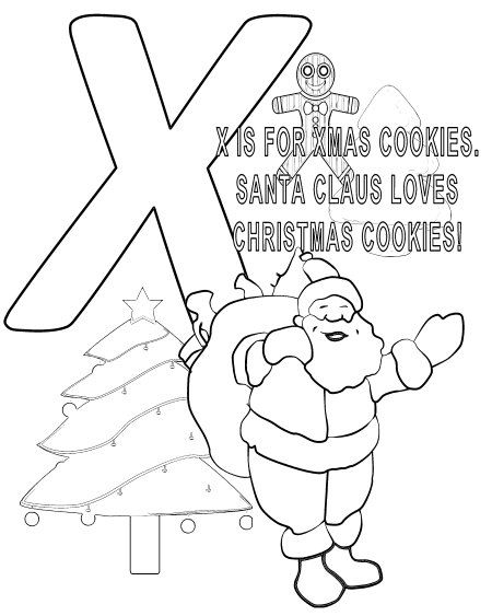 santa claus from learn the abcs coloring book httpamznto - Coloring Book Santa