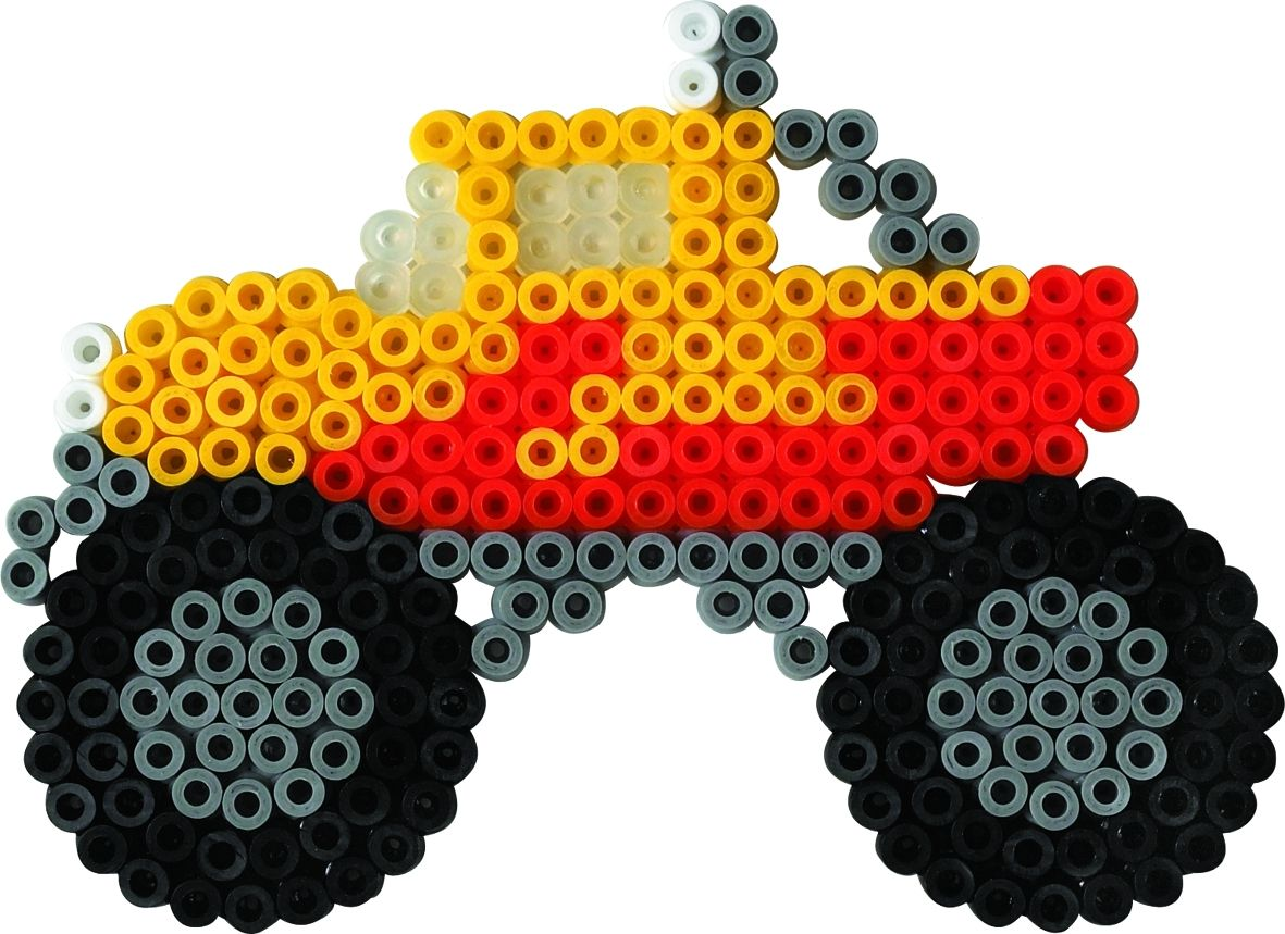 hama monstertruck b gelperlenbild vorlagen f r b gelperlen kindergeburtstag pinterest. Black Bedroom Furniture Sets. Home Design Ideas