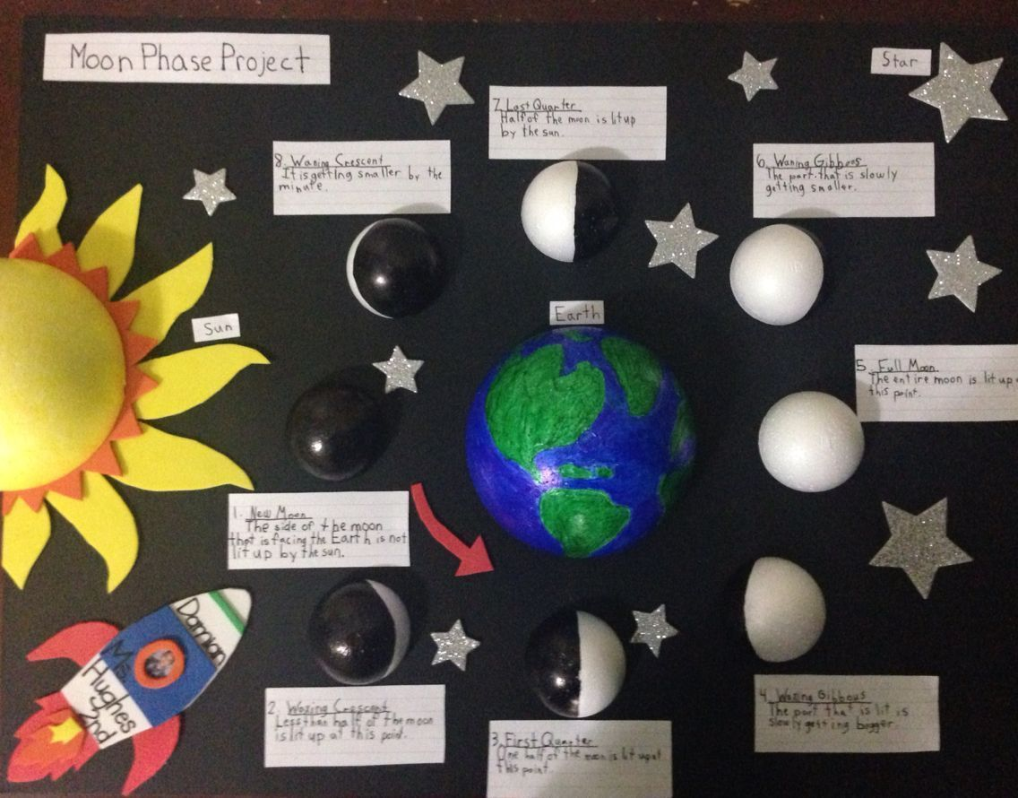 Moon Phases Project Science Primary Science Primary Moon