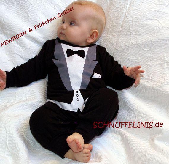 b6dd8a2b35cf Newborn preemie tuxedo onesie 1pcs. Baby tuxedo by Schnuffelinis