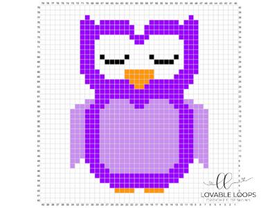 Crochet Owl C2C Baby Blanket #c2cbabyblanket