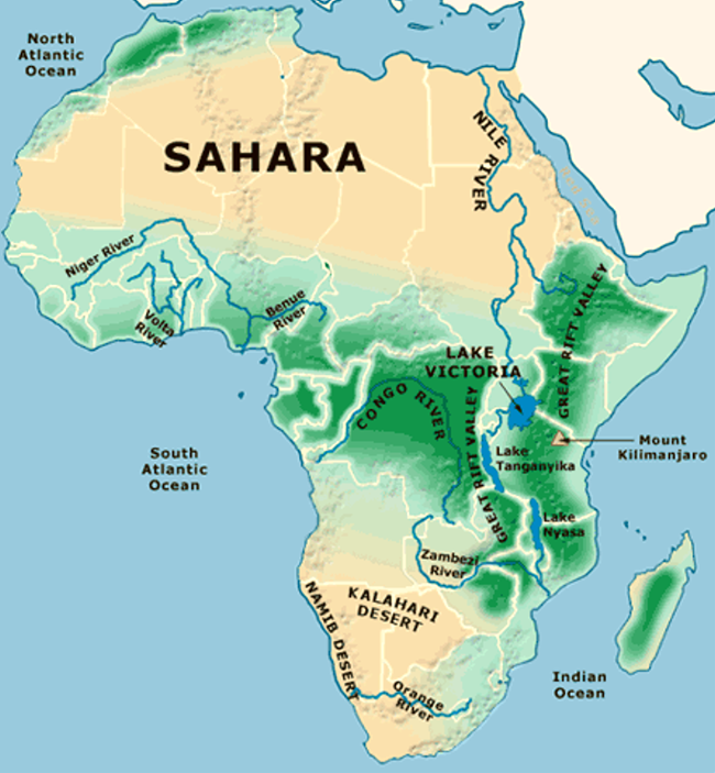 Maps Of Africa For Students   Bing Images | Grassland habitat