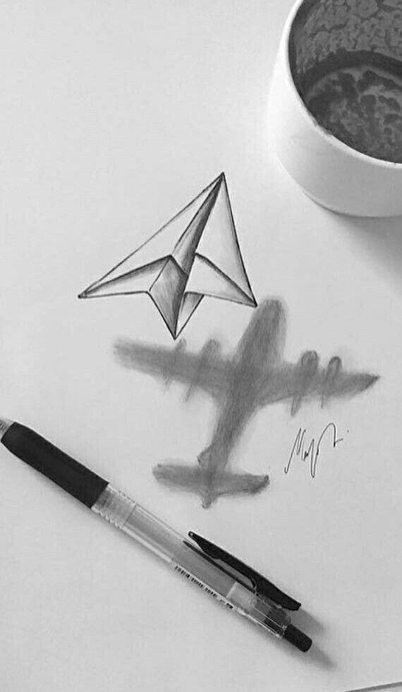 3d Drawing Dessin Facile Dibujar Arte Arte Et Arte Lapiz