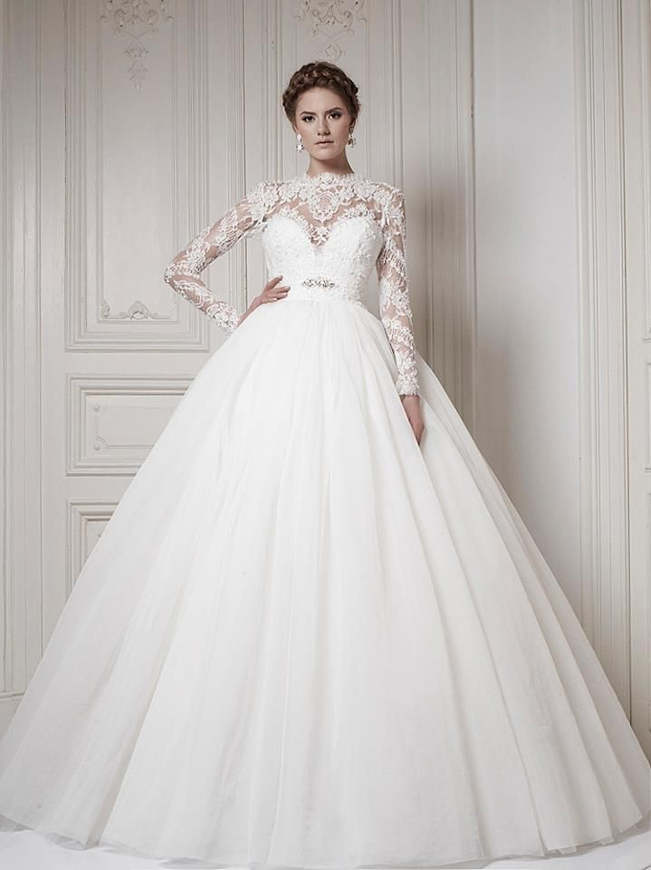 Ersa Atelier 2017 Wedding Dress Ball Gown Long Sleeves Like How The Skirt Is Very And Pleated Almost But Not Top